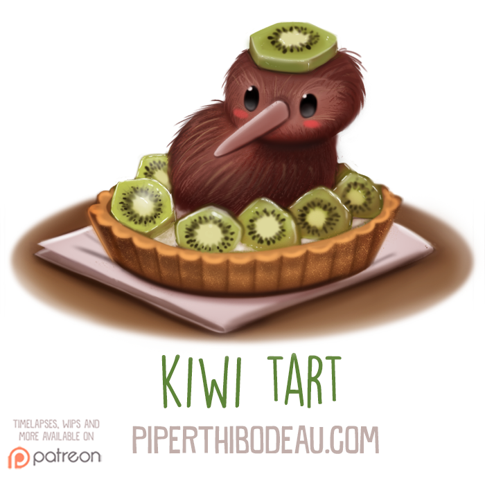 Daily Paint 1600 Kiwi Tart By Cryptid Creations On Deviantart
