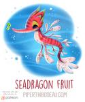 Daily Paint 1601. Seadragon Fruit