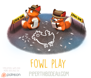 Daily Paint 1605. Fowl Play