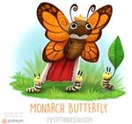 Daily Paint 1607. Monarch Butterfly