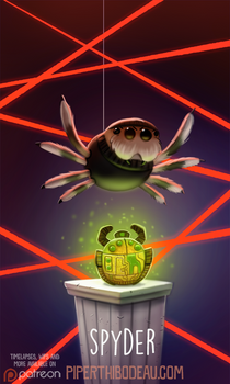 Daily Paint 1608. Spyder
