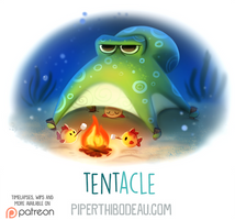 Daily Paint 1611. Tent-acle