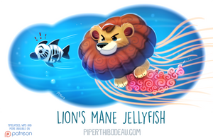 Daily Paint 1615. Lion's Mane Jellyfish