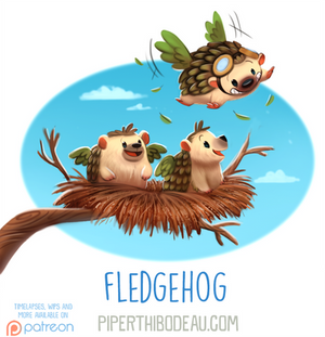 Daily Paint 1616. Fledgehog