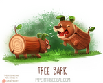 Daily Paint 1617. Tree Bark