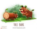 Daily Paint 1617. Tree Bark