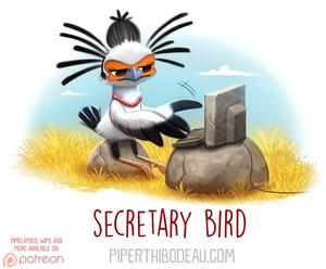 Daily Paint 1618. Secretary Bird
