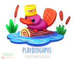Daily Paint 1619. Playdoughpus