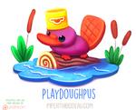 Daily Paint 1619. Playdoughpus