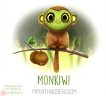 Daily Paint 1620. Monkiwi