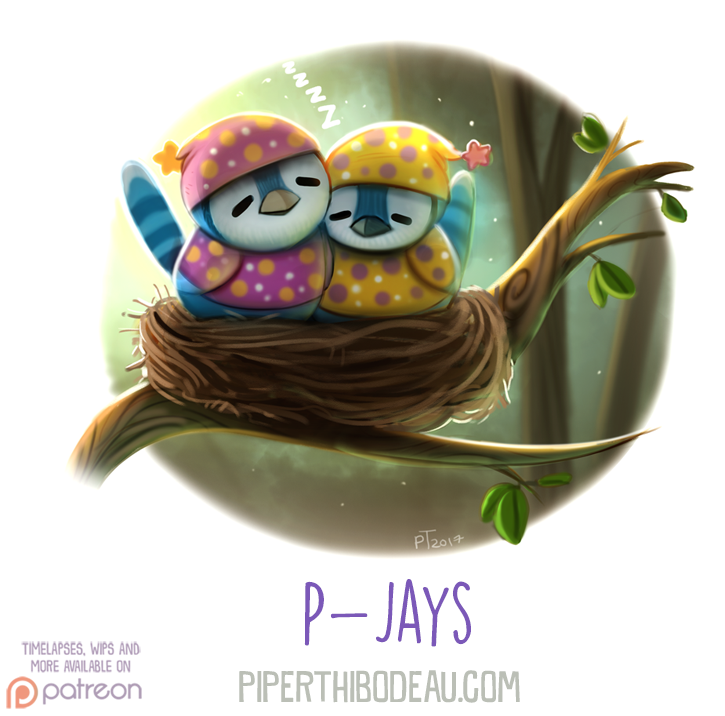 Daily Paint 1630. P-Jays by Cryptid-Creations on DeviantArt