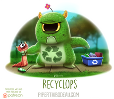 Daily Paint 1632. Recyclops