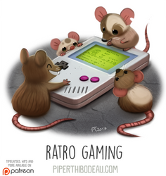 Daily Paint 1634. Ratro Gaming