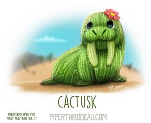 Daily Paint 1636. Cactusk