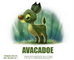 Daily Paint 1640. Avacadoe (Whew! Close one)