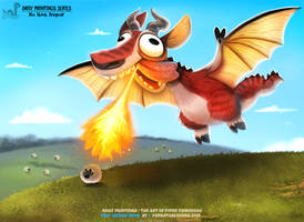 Daily Painting 1646# - Dragoat by Cryptid-Creations