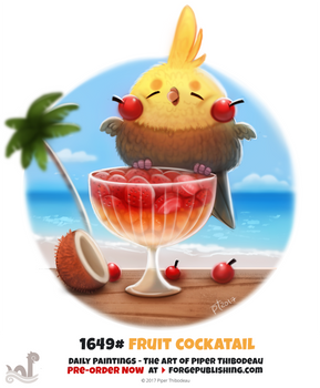 Daily Painting 1649# - Fruit Cockatail