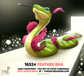 Daily Painting 1652# - Feather Boa