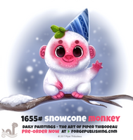 Daily Painting 1655# - Snowcone Monkey by Cryptid-Creations