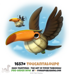 Daily Painting 1657# - Toucantaloupe