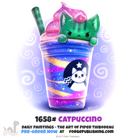 Daily Painting 1658# - Catpuccino by Cryptid-Creations