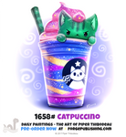 Daily Painting 1658# - Catpuccino