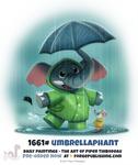 Daily Painting 1661# - Umbrellaphant