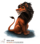 Daily Painting 1669# - Scar