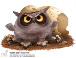 Daily Painting 1671# Baby Griffon