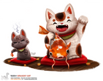 Daily Painting 1680# Unlucky Cat