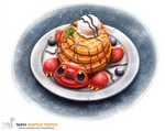 Daily Painting 1681# Waffle Turtle