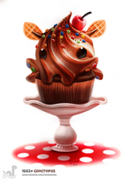 Daily Painting 1682# Choctopus