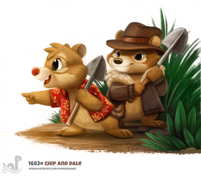 Daily Painting 1683# Chip and Dale