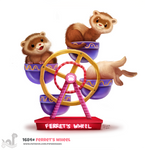 Daily Painting 1684# Ferret's Wheel