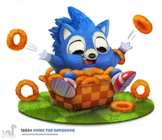 Daily Painting 1685# Sonic The Hedgehog