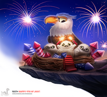 Daily Painting 1687# Happy 4th of July!