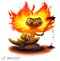 Daily Painting 1689# Grilled Lizard