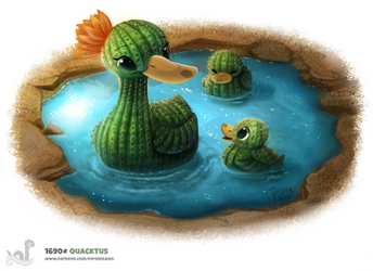 Daily Painting 1691# Quacktus by Cryptid-Creations