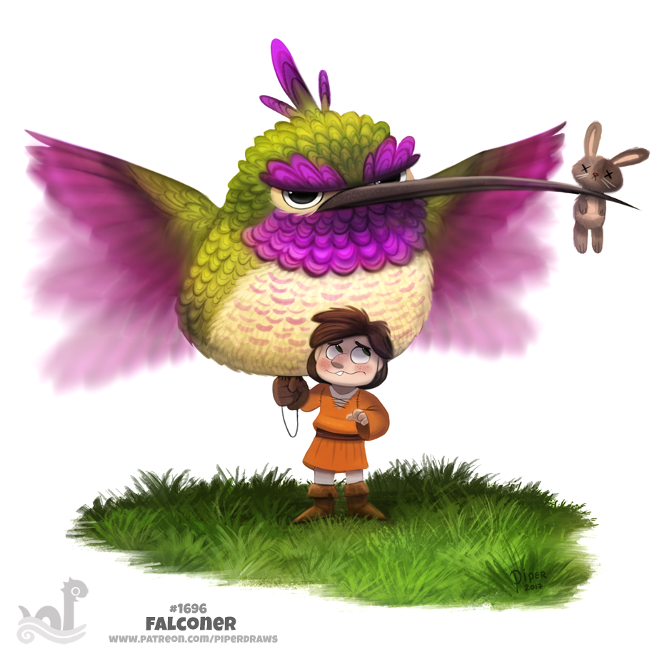 Daily Painting 1696# Falconer by Cryptid-Creations
