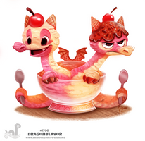Daily Painting 1706# Dragon Flavor by Cryptid-Creations