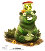 Daily Painting 1707# Cucumbear by Cryptid-Creations