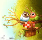 Daily Painting 1709# Pecknic