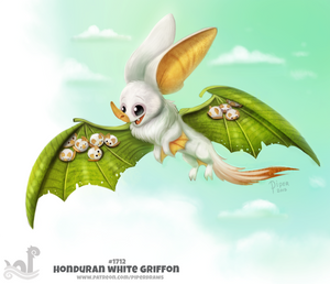 Daily Painting 1712# Honduran White Griffon