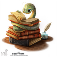 Daily Painting 1713# Hissstorian by Cryptid-Creations