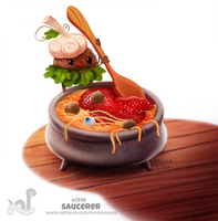 Daily Painting 1719# Saucerer by Cryptid-Creations