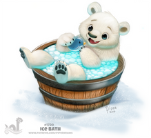 Daily Painting 1720# Ice Bath