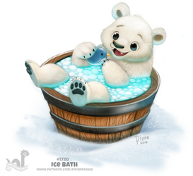 Daily Painting 1720# Ice Bath by Cryptid-Creations