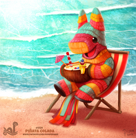Daily Painting 1721# Pinata Colada by Cryptid-Creations