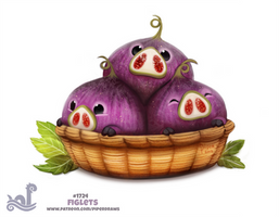 Daily Painting 1724# Figlets by Cryptid-Creations
