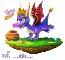 Daily Painting 1725# Spyro by Cryptid-Creations
